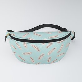 Pastel Feathers Small Fanny Pack
