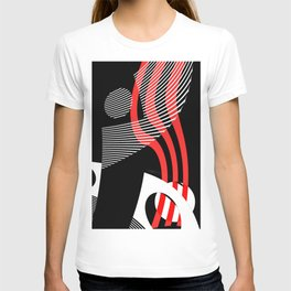 Black and white meets red Version 30 T-shirt