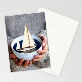 Ship in the bowl Stationery Cards