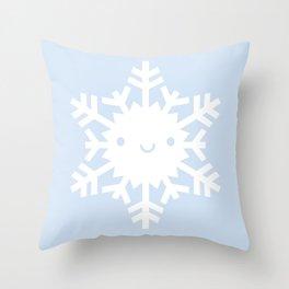 Kawaii Snowflake Throw Pillow