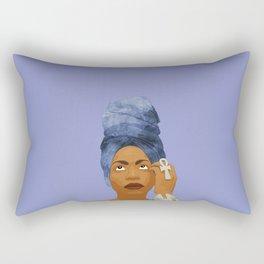 Erykah Badu, Purple Rectangular Pillow