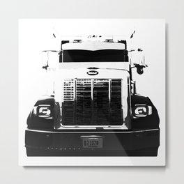Peterbilt Truck Fade Metal Print