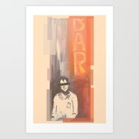 bar Art Prints featuring Bar by Martin Evans