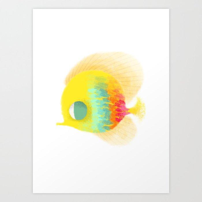 Bajo del mar Art Print