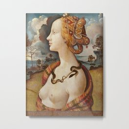 Piero di Cosimo - Portrait de femme dit de Simonetta Vespucci Metal Print