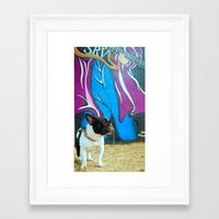frenchie Framed Art Prints featuring Frenchie by HANS-G
