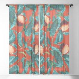 Vintage Fruit Pattern XI Sheer Curtain