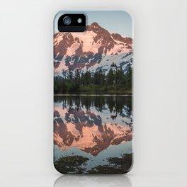 Cascade Sunset - Mt. Shuksan - Nature Photography iPhone Case
