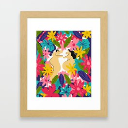 Couple Flowes Framed Art Print