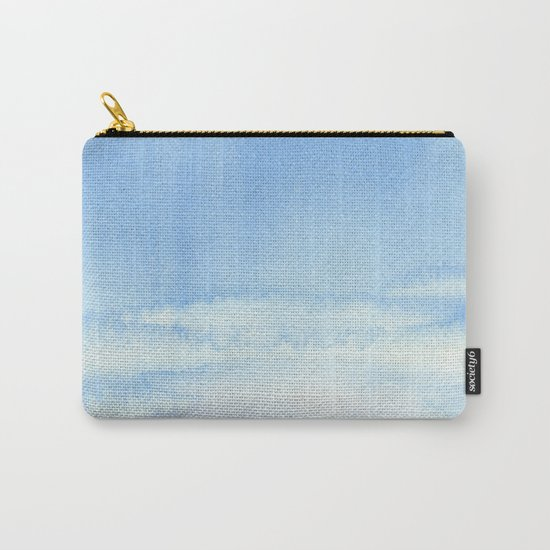 Sky and Grass Landscape Watercolor Carry-All Pouch