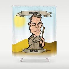 Nomad Matt (Matt Damon) Shower Curtain