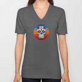 Cinco de Mayo Skull Logo Unisex V-Neck