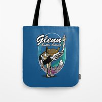 warcraft Tote Bags featuring Glenn, Battle Ostrich by Siegeworks