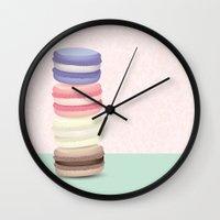 macaron Wall Clocks featuring Macaron tower by lulu ramos
