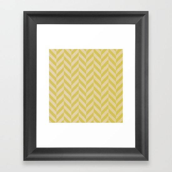 Sunshine Herringbone Framed Art Print