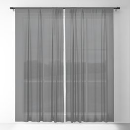 Dunn & Edwards 2019 Curated Colors Dark Engine (Dark Gray / Charcoal Gray) DE6350 Solid Color Sheer Curtain