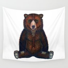 Blissed Out Bear Wall Tapestry