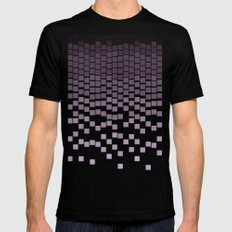 Pixel Rain Mens Fitted Tee Black MEDIUM