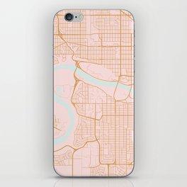 Edmonton map, Canada iPhone Skin