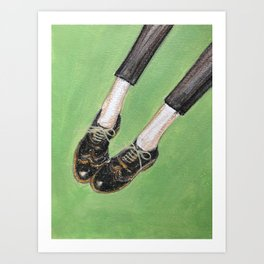 Legs and Vintage shoes 2 Art Print