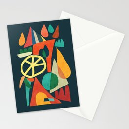 Summer Fun House Stationery Cards