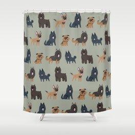 BELGIAN DOGS Shower Curtain