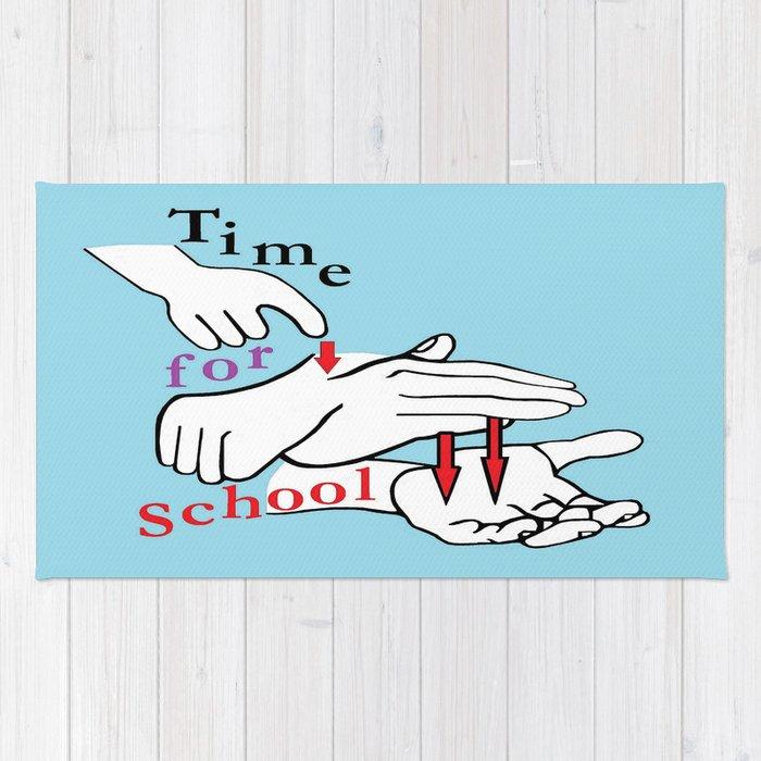 ASL Time for School Rug
