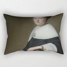 Johannes Cornelisz Verspronck - Portrait of Maria van Strijp Rectangular Pillow