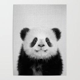 Panda Bear - Black & White Poster