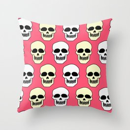 Skull pattern Throw Pillow