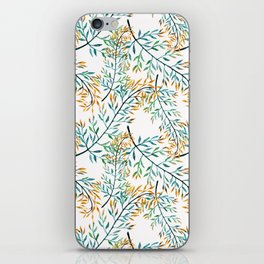 Delicate leaves . iPhone Skin