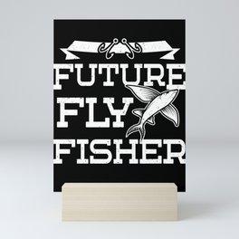 Future Fly Fisher Flying Fish Fishing Kids Gift Mini Art Print