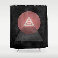 illuminati Shower Curtains featuring Illuminati by Ed Burczyk