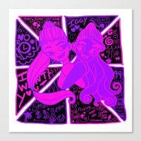 ariana grande Canvas Prints featuring Ariana Grande Ft. Iggy Azalea by Glopesfirestar