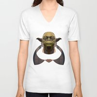 yoda V-neck T-shirts featuring Yoda by lazylaves