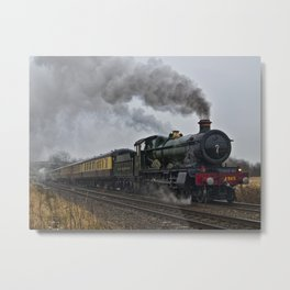 Rood Ashton Hall steam locomotive Metal Print