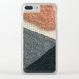 The Straight Path Rug Hooked Artwork Clear iPhone Case