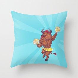 Minotaur Cheer Throw Pillow