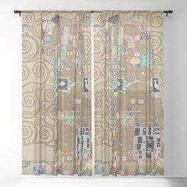 Gustav Klimt - The Embrace Sheer Curtain