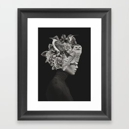 Lady with Birds(portrait) Framed Art Print