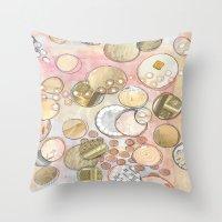 fancy Throw Pillows featuring fanCy by Mojca G. Vesel