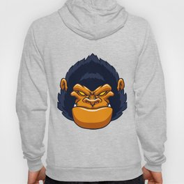 angry ape gorilla face Hoody