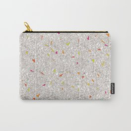 Little Triangles Pattern Carry-All Pouch