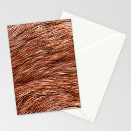 Red fox fur closeup textured cloth abstract Stationery Cards