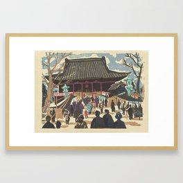 Asakusa Kannon tempel, Saitô Kiyoshi, 1945 Framed Art Print