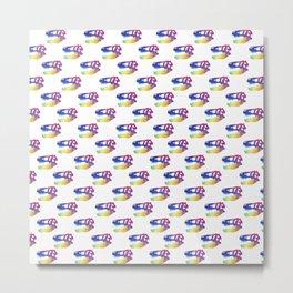T-Rex Pattern Design Metal Print