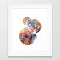 planets Framed Art Prints featuring Planets by emluluna