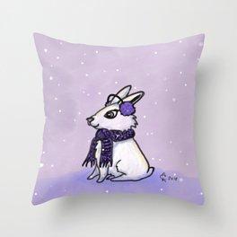 Freezing Your Bun-ny Off Throw Pillow