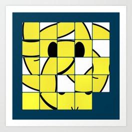 Acid Smiley Shuffle Puzzle Art Print