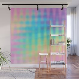 Wavy Pastel Rainbow Design Wall Mural